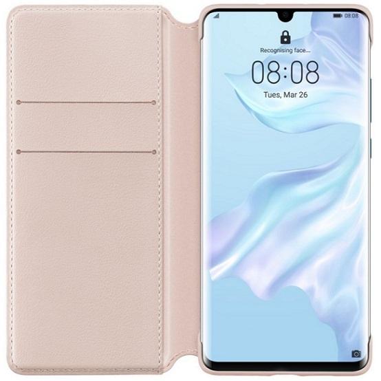 Flipové pouzdro Huawei Original Wallet pro Huawei P30 Pro, pink