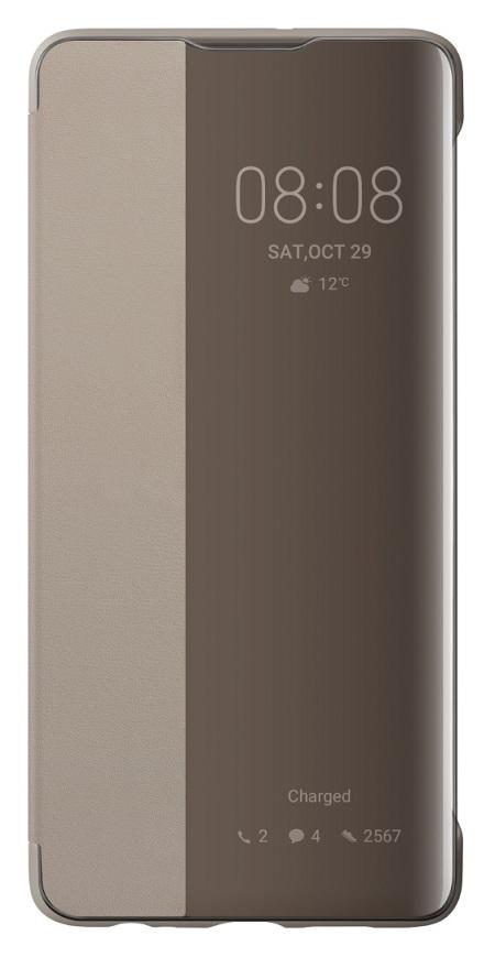 Original Huawei S-View flipové pouzdro pro Huawei P30, khaki