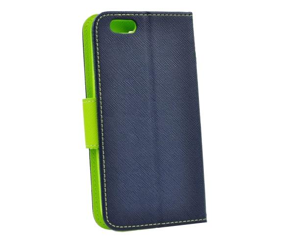 Fancy Diary flipové pouzdro pro Samsung Galaxy J4+, modro-limetkové