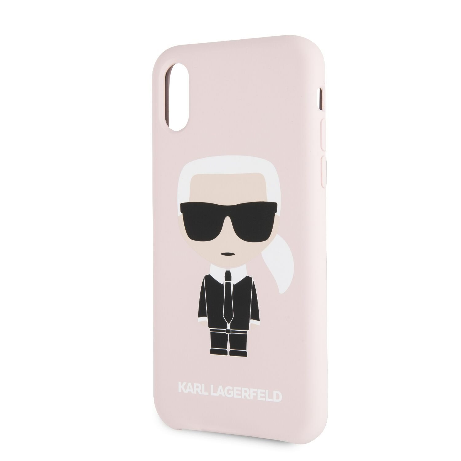 Silikonové pouzdro Karl Lagerfeld Iconic Bull Body Apple iPhone X/XS, pink