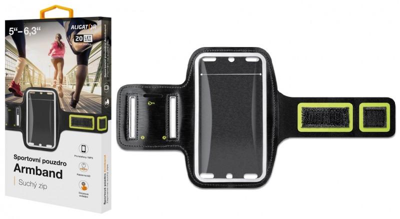 Sportovní pouzdro ALIGATOR Armband, černo-žluté
