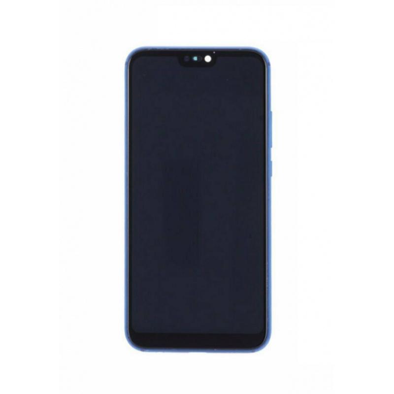 LCD + dotyk + rámeček + baterie pro Huawei P20 Lite, blue (Service Pack)