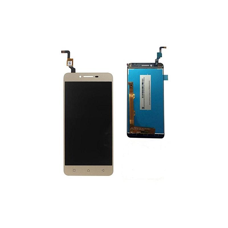 LCD + dotyk + rámeček pro Lenovo K5 Plus, gold Assembled
