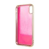 Guess Glow in The Dark GUHCPXGLTRPI Zadní kryt pro Apple iPhone X/XS gold/pink