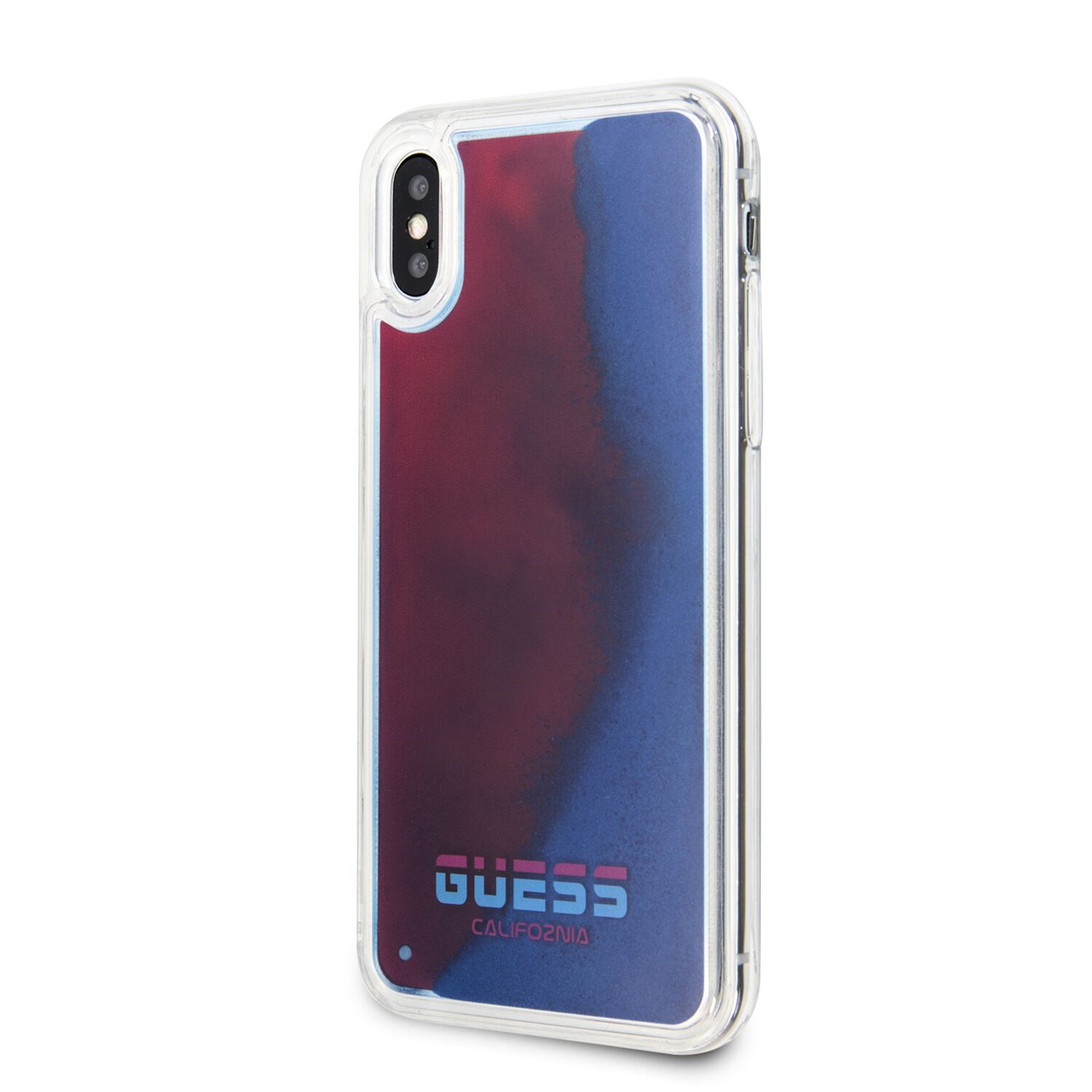 Guess Glow in The Dark GUHCPXGLCRE Zadní kryt pro Apple iPhone X/XS sand/red C/TPU Kryt pro iPhone X/XS Sand/Red (EU Blister)