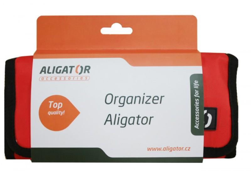 Cestovní organizér ALIGATOR červený