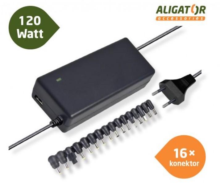 Univerzální adaptér k notebooku s USB výstupem a 16 výměnnými konektory