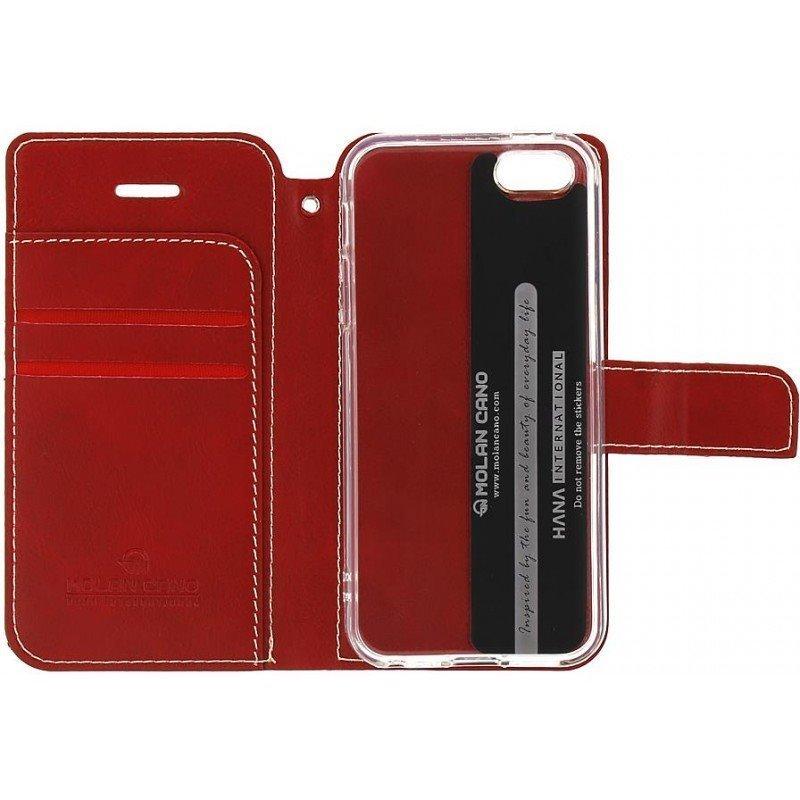 Molan Cano Issue flipové pouzdro pro Xiaomi Redmi Note 7 red