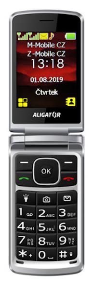 Aligator V710 Senior červená/stříbrná