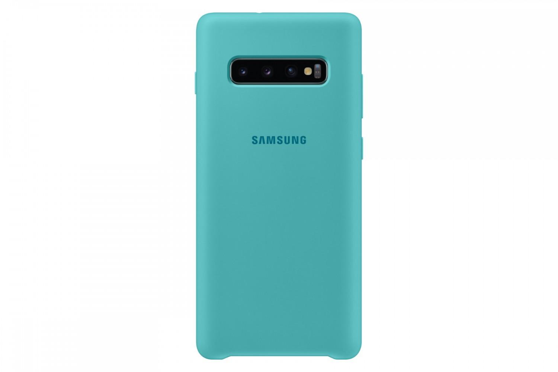 Ochranný kryt Silicone Cover pro Samsung Galaxy S10 Plus, zelený