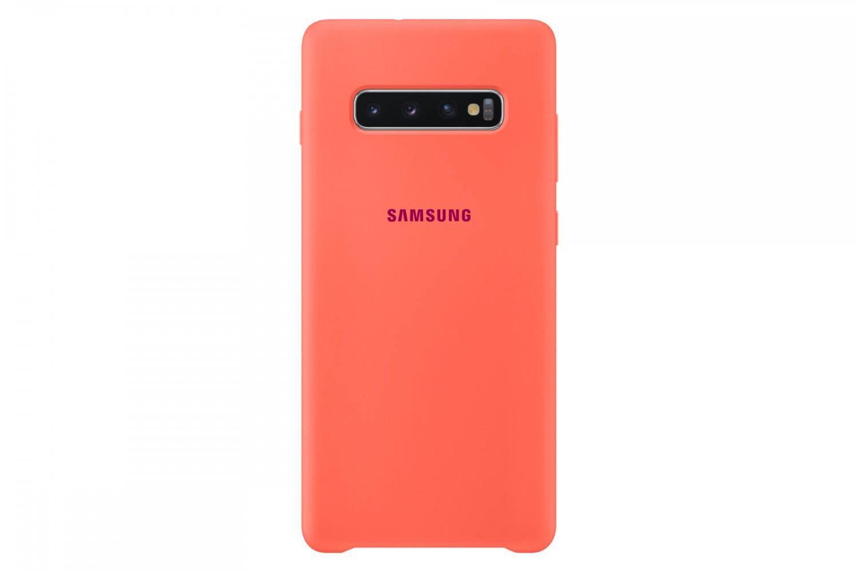 Silikonové pouzdro Silicone Cover EF-PG975THE pro Samsung Galaxy S10 Plus, růžová