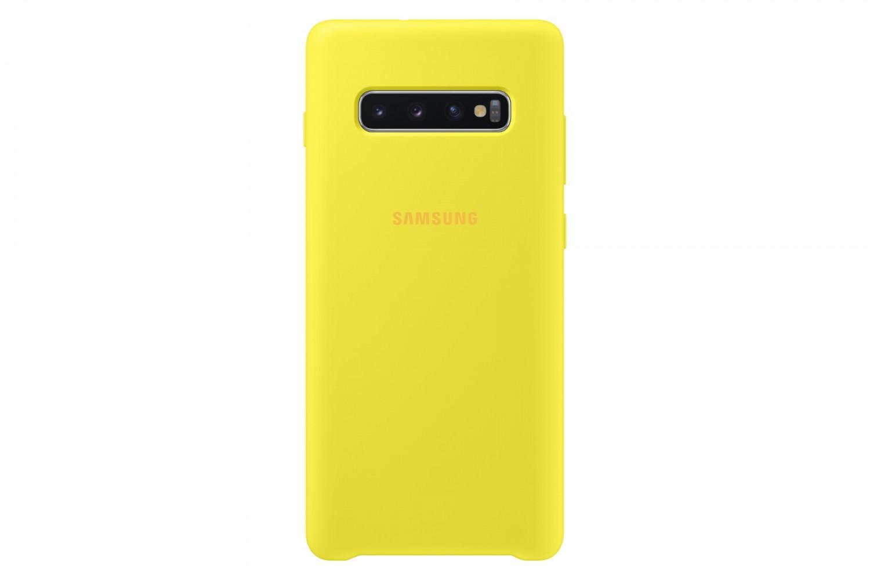 Ochranný kryt Silicone Cover pro Samsung Galaxy S10 Plus, žlutý