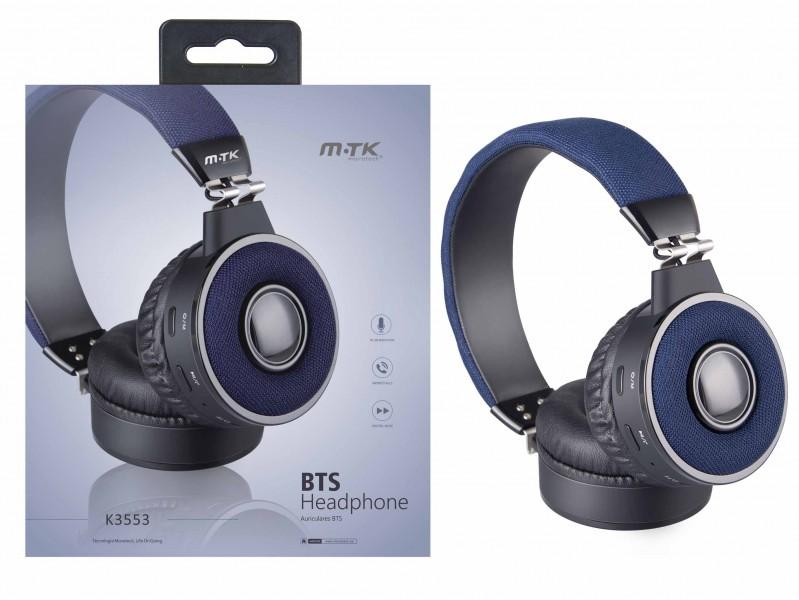 Bezdrátová sluchátka PLUS K3553, blue