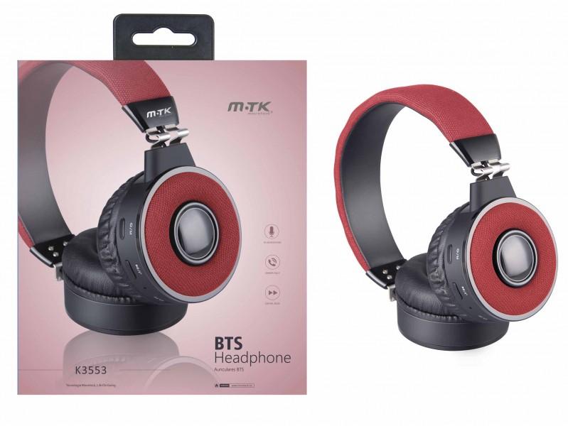 Bezdrátová sluchátka PLUS K3553, red