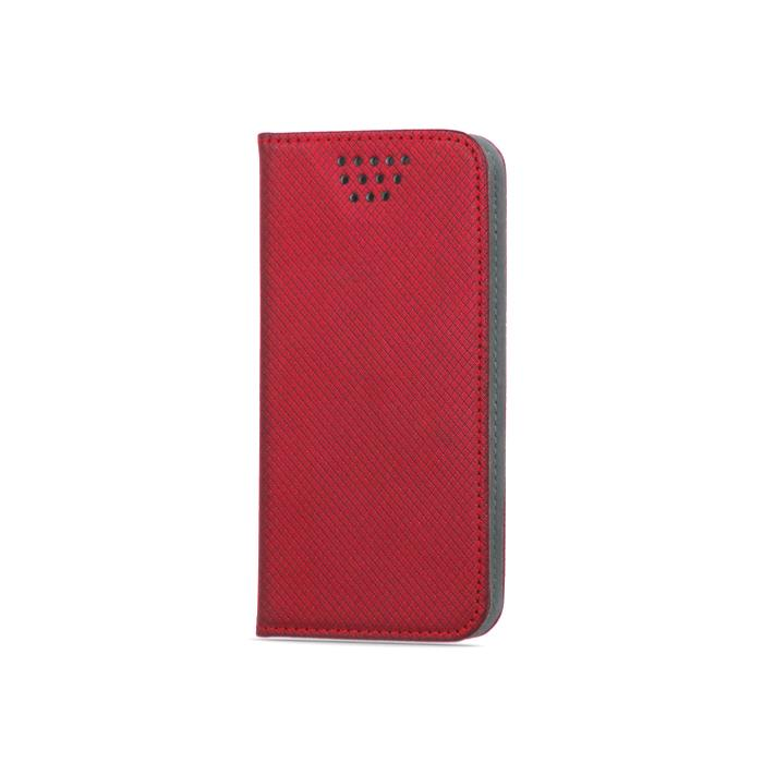 """Flipové pouzdro Smart Magnet typ B univerzální 5,5-5,7"""", červené"""