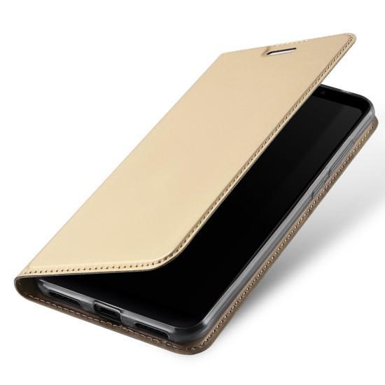 Flipové pouzdro Dux Ducis Skin pro Apple iPhone XS Max, zlatá