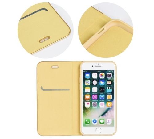 Flipové pouzdro Forcell Luna Book pro Apple iPhone X/XS, gold