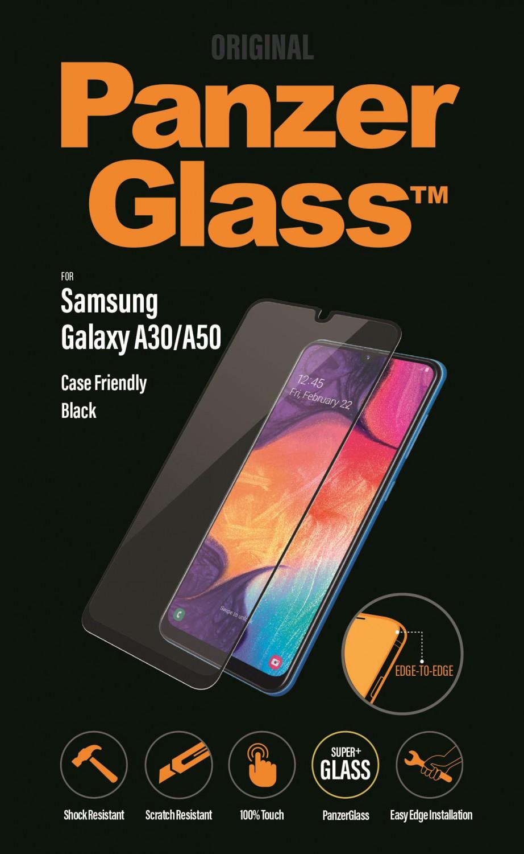 Ochranné sklo displeje PanzerGlass Edge to Edge pro Samsung Galaxy A30/A50, black