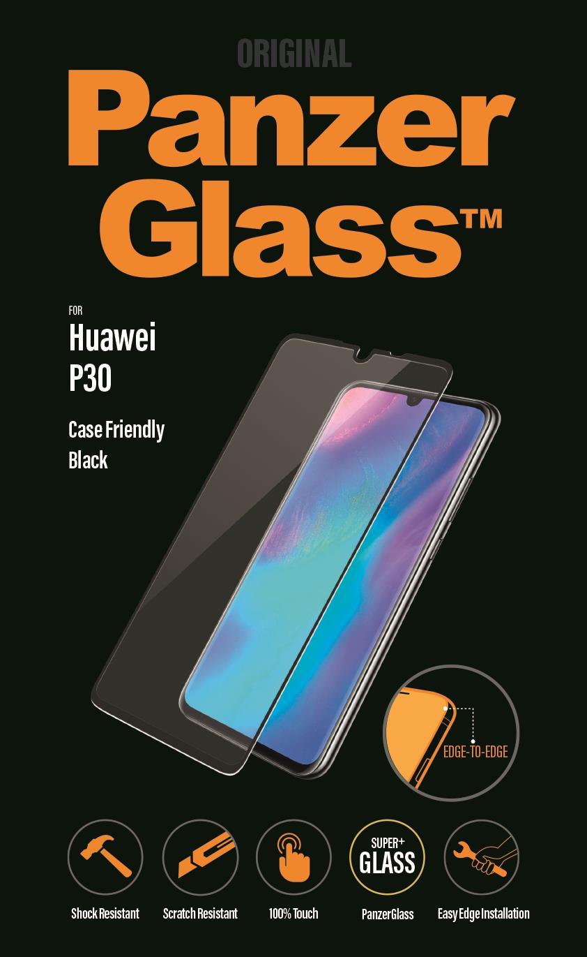 Ochranné sklo displeje PanzerGlass Edge to Edge pro Huawei P30, black
