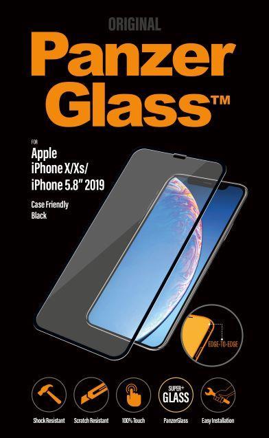 Ochranné sklo displeje PanzerGlass Edge to Edge pro Apple iPhone X/Xs/11 Pro, black