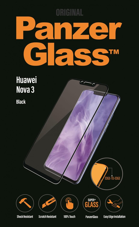 Ochranné sklo displeje PanzerGlass Edge to Edge pro Huawei Nova 3, black