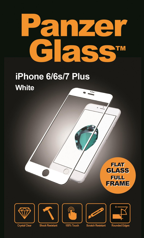 Ochranné sklo displeje PanzerGlass Edge to Edge pro Apple iPhone 6/6S/7/8 plus, white