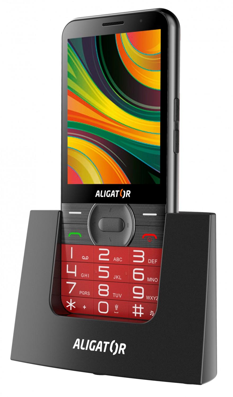 Aligator A900 GPS Senior červená + stolní nabíječka