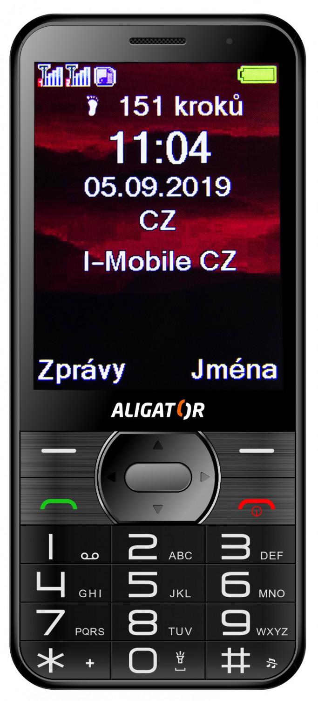 Aligator A900 GPS Senior černá + stolní nabíječka