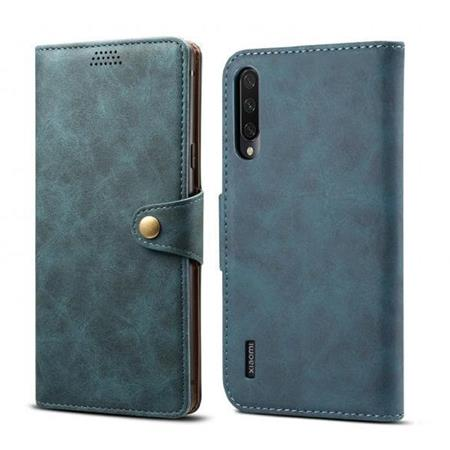 Lenuo Leather flipové pouzdro na Xiaomi Mi A3, blue