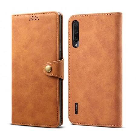 Lenuo Leather flipové pouzdro na Xiaomi Mi A3, brown
