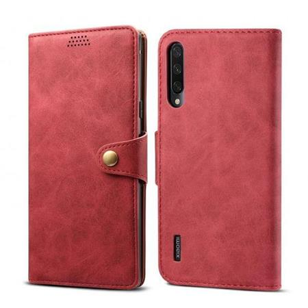 Lenuo Leather flipové pouzdro na Xiaomi Mi A3, red