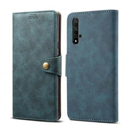 Lenuo Leather flipové pouzdro na Honor 20, blue