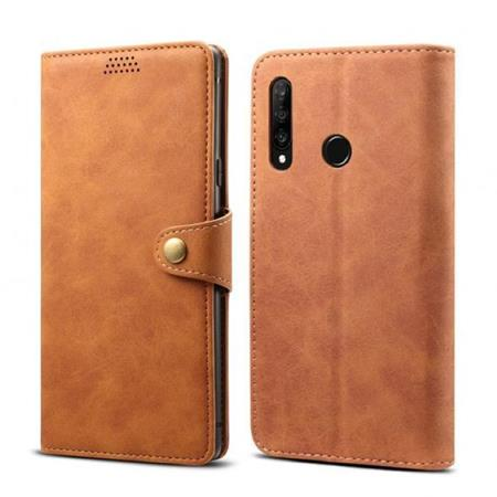 Lenuo Leather flipové pouzdro na Honor 20 lite, brown