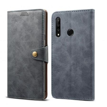 Lenuo Leather flipové pouzdro na Honor 20 lite, dark grey