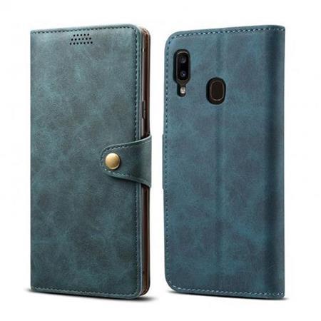 Lenuo Leather flipové pouzdro na Samsung Galaxy A20e, blue