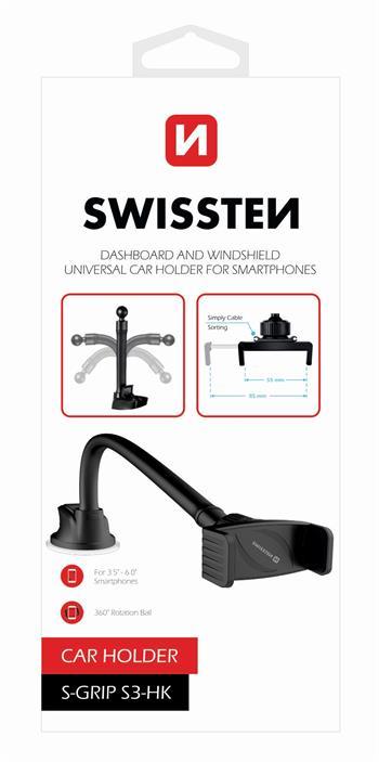 Držák do auta Swissten S-Grip S3-HK, černý