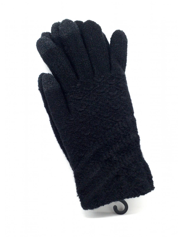 Dámské rukavice na dotykový displej, černá