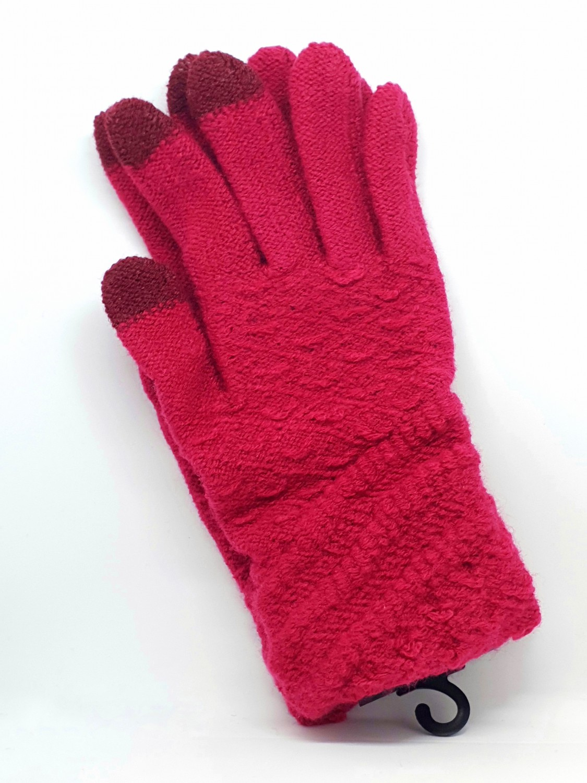 Dámské rukavice na dotykový displej, červená