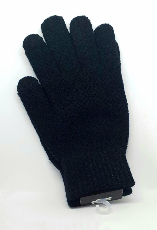 Pánské rukavice na dotykový displej, černá