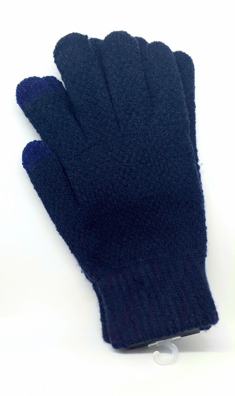 Pánské rukavice na dotykový displej, modrá
