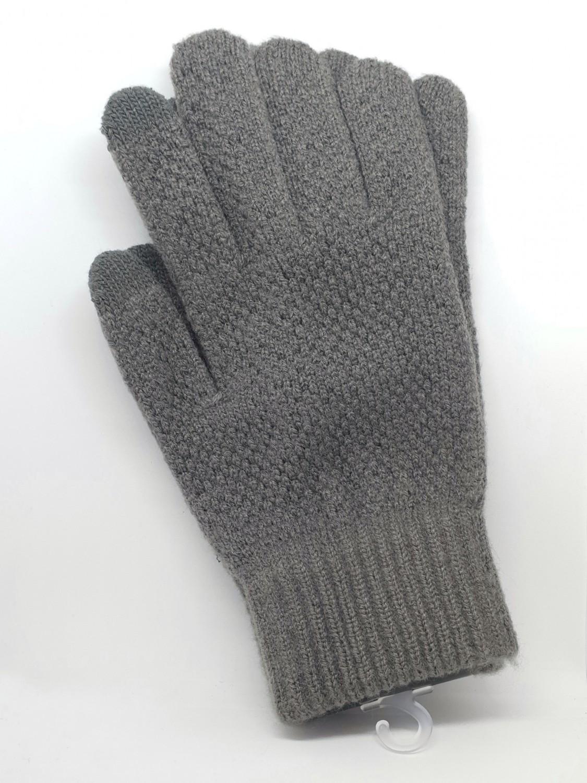 Pánské rukavice na dotykový displej, šedá
