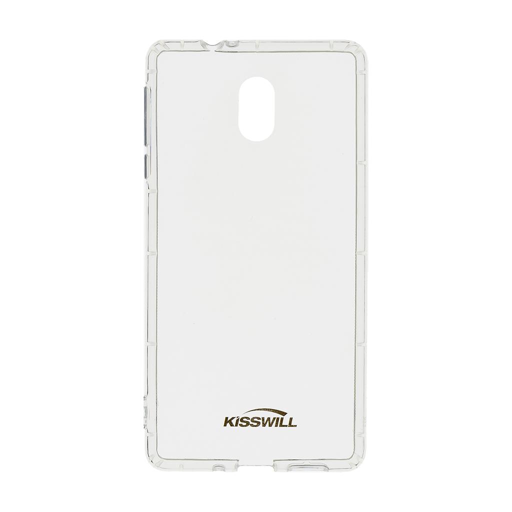Silikonové pouzdro Kisswill pro Motorola One Action, transparentní