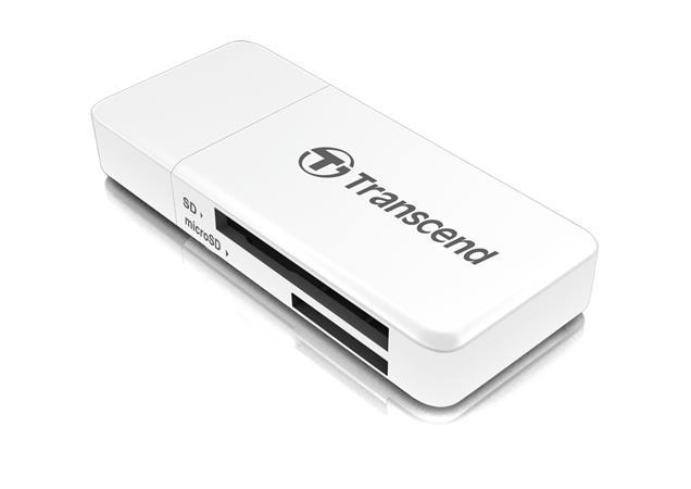 Transcend RDF5 USB 3.0 čtečka paměťových karet SDHC (UHS-I)/SDXC (UHS-I)/microSDHC (UHS-I)/microSDXC (UHS-I), bílá