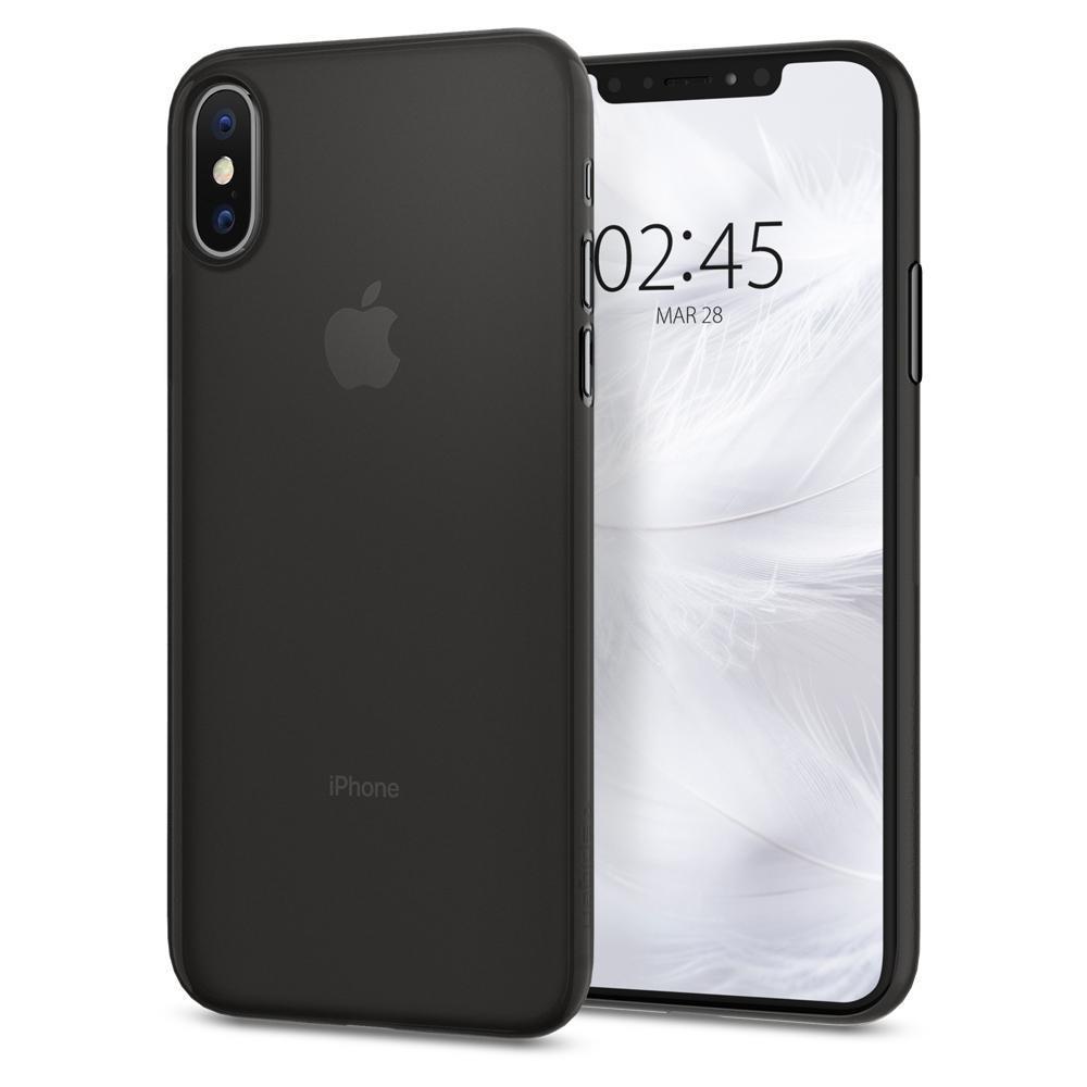 Ochranný kryt Spigen Air Skin pro Apple iPhone X/XS, černá