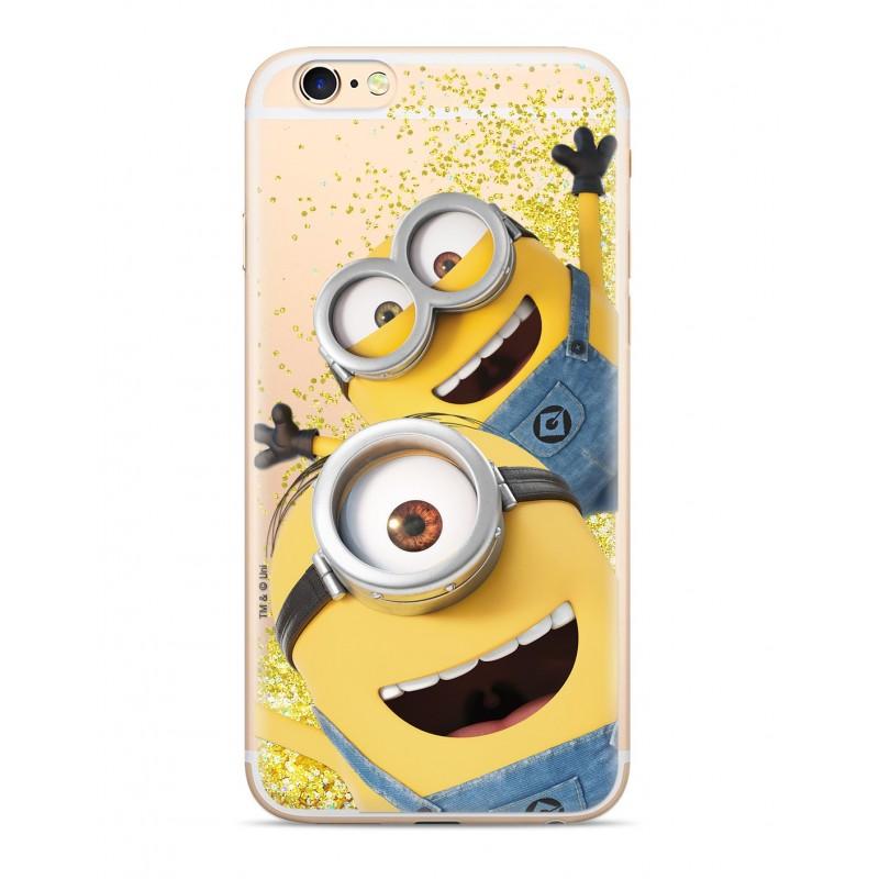 Zadní kryt Minions Glitter 015 pro Apple iPhone 5/5S/SE, gold