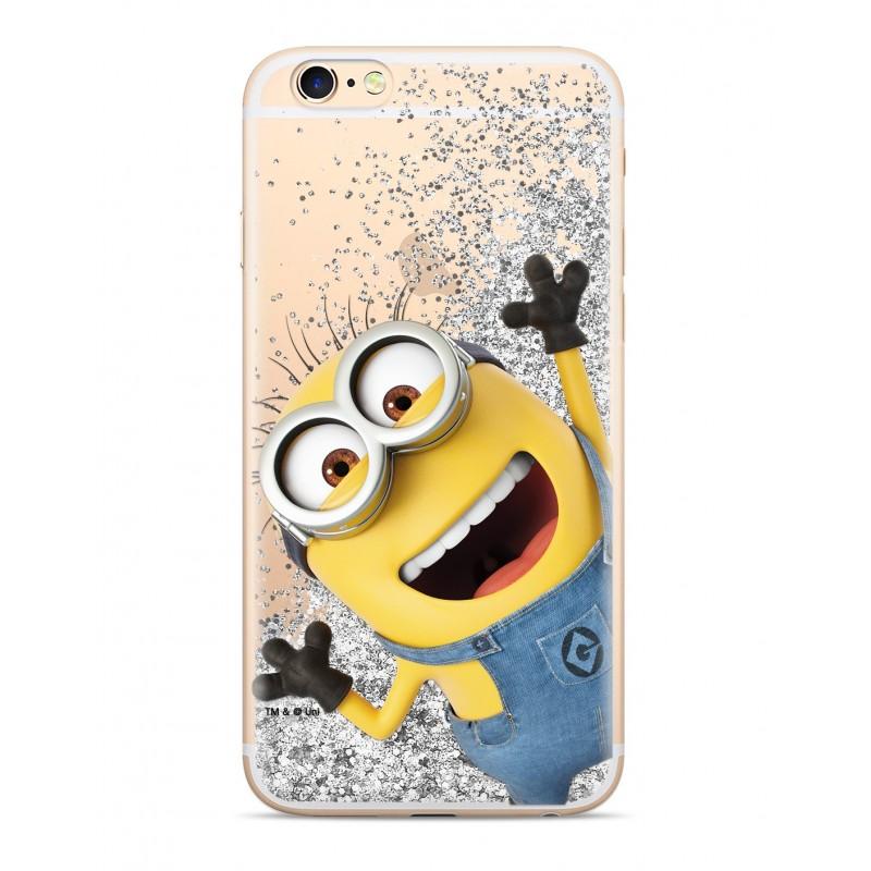 Zadní kryt Minions Glitter 002 pro Apple iPhone X/Xs, silver