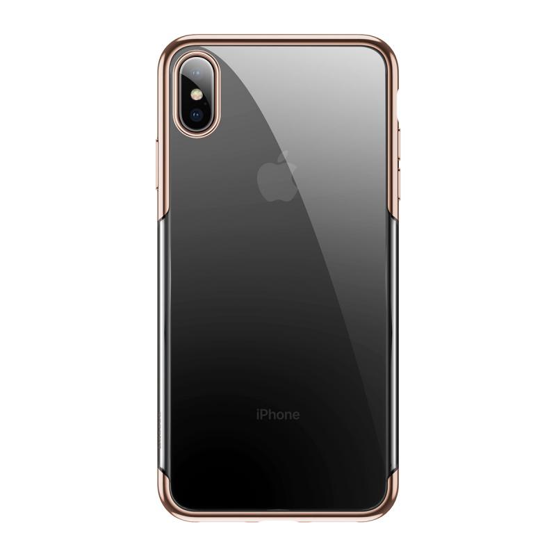 Silikonové pouzdro Baseus Glitter Case pro Apple iPhone XS Max, zlatá