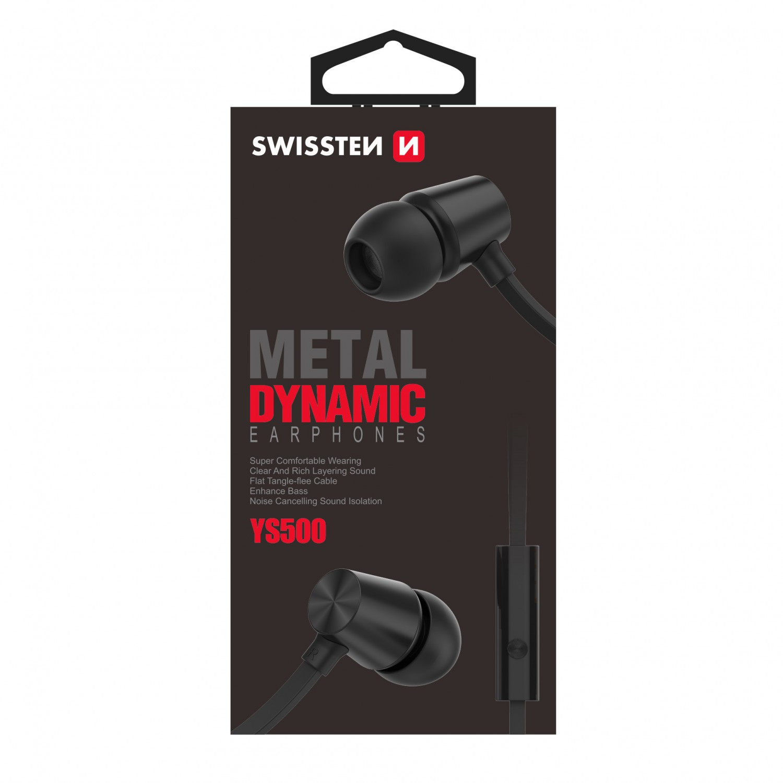Sluchátka Swissten Earbuds Dynamic YS500, černá