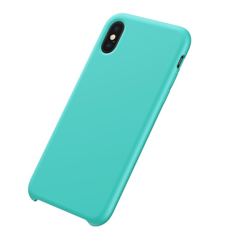 Silikonové pouzdro Baseus Original LSR Case pro Apple iPhone X/XS, modrá