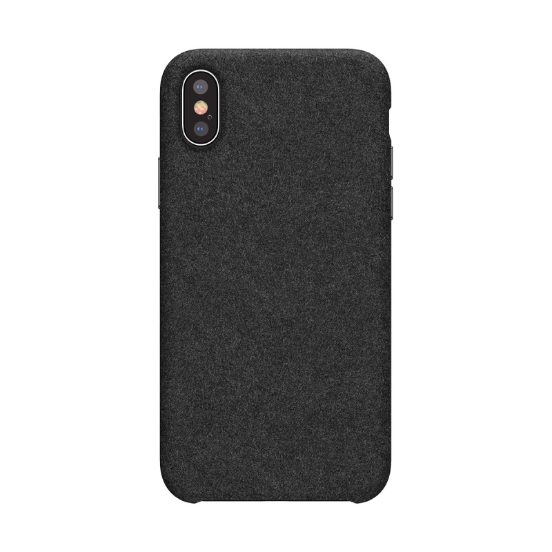 Silikonové pouzdro Baseus Original Super Fiber Case pro Apple iPhone X/XS, černá
